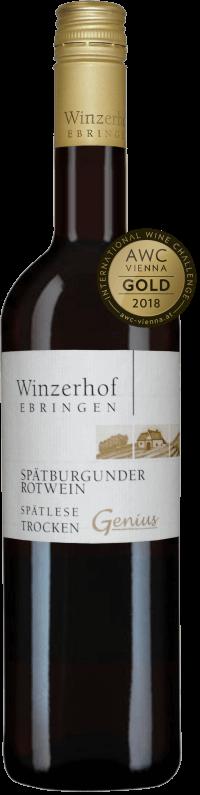 Spätburgunder Rotwein Genius Spätlese trocken 2015